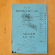 AUSTIN gipsy.body Service Parts list.illustrated.