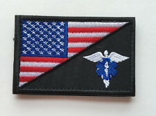 MEDIC NURSE ARMY USA FLAG MORALE TACTICAL EMBROIDERY HOOK PATCH BADGE  HS  688