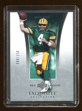 2005 EXQUISITE BRETT FAVRE BASE CARD #15 #D 080/150 PACKERS LEGEND QB    HOF