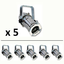 5 x PAR 16 Pulse Silver Birdie 240V Spot Light; Stage, Display Window Exhibition