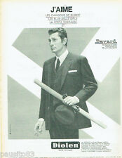 PUBLICITE ADVERTISING 115  1966  DIOLEN costume BAYARD JEAN -CLAUDE PASCAL