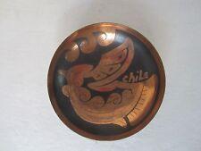 Vintage Small Copper Dish Signed Chile, w/ Original Artesania Scorpio Label