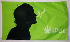 ipot Marijuana Flag 3' X 5' Indoor Outdoor Pot Banner
