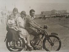ANTIQUE MOTORCYCLE JAP ENGINE BRIGHTON PIER UK BEACH BOARDWALK RPPC PHOTO