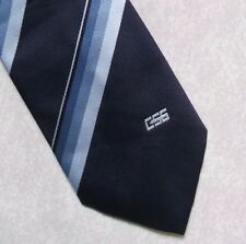 CSS COMPANY LOGO TIE VINTAGE RED NAVY CLUB ASSOCIATION BY CORNELIA JAMES 1980s