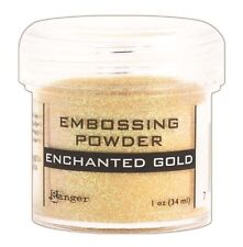 Ranger Enchanted Gold Embossing Powder - Add dimension to rubber stamp images
