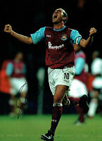 Paolo Di CANIO Signed Autograph West Ham United Legend 16x12 Photo AFTAL COA