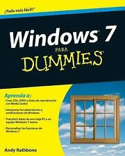 Windows 7 Para Dummies by Andy Rathbone (2009, Paperback)