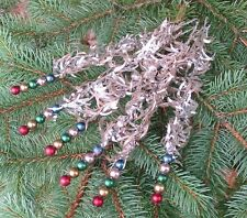 Bethany Lowe Retro Silver Christmas Tinsel Sprigs Set of 6 Ornaments