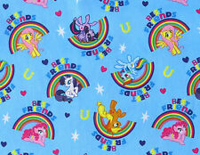 MY LITTLE PONY PALS RAINBOWS MAGIC COTTON FABRIC SPRINGS CREATIVE HASBRO YARDAGE