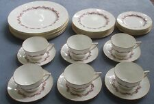 Set for SIX 30 Pcs Minton Pink Laurentian Dinnerware Bone China England