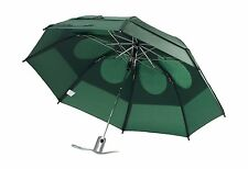 "Gustbuster Metro Dual Canopy Collapsible Windproof 43"" Umbrella Green Wind Proof"