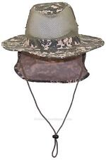 Summer Wide Brim Mesh Safari/Outback Hat W/Neck Flap #982 Digital Camo S