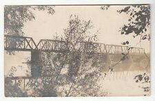 [47101] 1907 RPPC OF EARLY BRIDGE OF UNKNOWN LOCATION