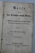 Maria Joseph von Geramb - Reise von La Trappe nach Rom
