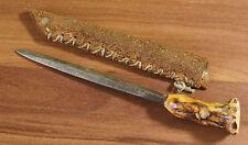 Sehr alter Brieföffner mit echtem Hirschhorngriff Klinge 9cm (C2)