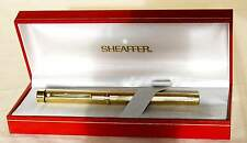 SHEAFFER TARGA 1005, GOLD PLATED, FLUTED, GOLD NIB. EXCELLENT.