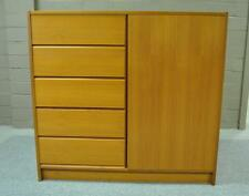 MID CENTURY DANISH MODERN SINGLE DOOR CHEST ARMOIRE