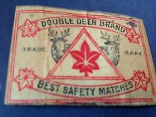 old match box top - double deer brand - safety matches