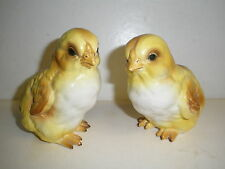 """Lot of 2 Vintage Lefton 3.5"""" Yellow Baby Chicken Chick Chickens Japan"""