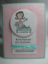 Stampin' Up! FUNNY Girlfriends Senile Getting Old Card Kit - 4 Cards