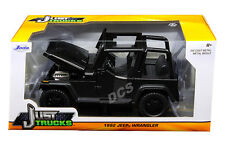 JADA 1992 JEEP WRANGLER BLACK 1/24 DIECAST MODEL CAR NEW  98083