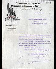 """NANCY (54) MODE / CONFECTION HOMME """"RENNESSON / VAXELAIRE & PIGNOT"""" en 1927"""