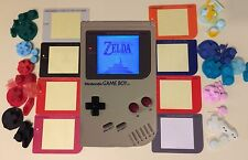NINTENDO original Game Boy DMG bivert, backlight modded white, red, green, blue!