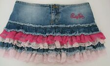 NEW PUNKYFISH DENIM AND LACE SKIRT,SIZE S,MINI SKIRT,