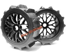 RC 1/8 Baja Buggy Wheels & Snow / Sand Paddle Tires Set (1 Pair) for HPI