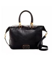 Marc by Marc Jacobs Too Hot To Handle Black Leather Top Zip Satchel $448 NWT NEW