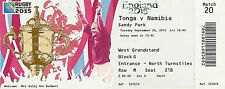 Tonga v Namibia 29 Sep 2015 RUGBY WORLD CUP TICKET Pool D, Match 20 Wembley
