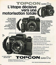 PUBLICITE ADVERTISING   1973   TOPCON  super D  appareil photo