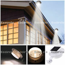 1X LED Warm White Solar Powered Outdoor Garden Light Gutter Fence Wall Bracket