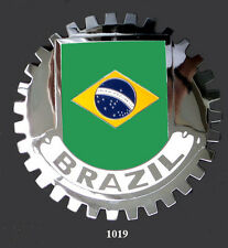 CAR GRILLE EMBLEM BADGES - BRAZIL (FLAG)