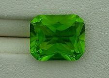 ONE 12x10 Synthetic Emerald Bright Fluorescent Apple Green Peridot Lab Grown