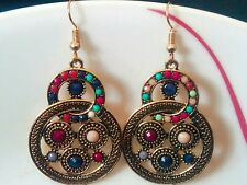 Beautiful Stylish Designer Fashion Latest  Double Circle Earrings For Women Girl