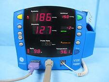 GE Dinamap Carescape V100 Vital Signs Monitor NIBP, Nellcor SpO2, Temp Warranty