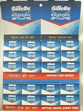 100 X Gillette Wilkinson Sword Stainless Steel Double Edge Safety Razor Blades