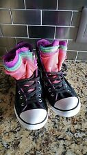 Converse All Star Black Canvas Multi-color Lace High Top Sneakers Women's 6.5