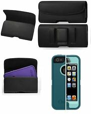 FOR SONY XPERIA C4 XL BELT CLIP HOLSTER LEATHER POUCH FIT OTTERBOX CASE ON PHONE