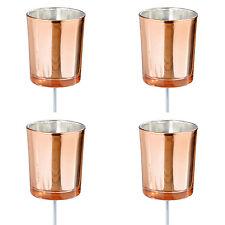 Adventsstecker 'Kupfer' Glas Metall Teelichthalter zum Stecken 4tlg Adventskranz
