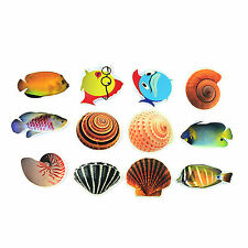 Bath Tub Shower Stickers Cartoon Fish Decals Treads Non Slip Applique Anti Skid