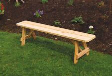 Traditional Cedar 5 Foot Picnic BENCH ONLY!! *Natural Unfinished* Amish Made USA
