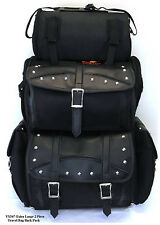 MOTORCYCLE SISSY T BAR BAGS STUDDED BAG SIDE ACCESS TRAVEL LUGGAGE ALL NEW