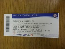11/02/2011 Ticket: Chelsea Youth v Barnsley Youth [FA Youth Cup] (Creased/Folded