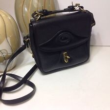 Dooney & Bourke Vintage Black Messenger Crossbody EXCELLENT!!