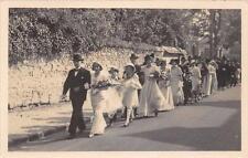 CPA 45 CHATILLON COLIGNY CARTE PHOTO D'UNE NOCE MARIAGE PERSONNES NOMMEES AU VER