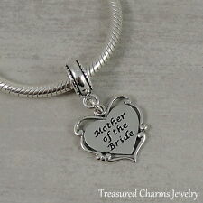 925 Sterling Silver Mother of the Bride Charm - European Dangle Bead NEW
