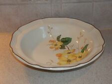 MIKASA CHINA F2001 GOLDWOOD PATTERN ROUND VEGETABLE BOWL 9 3/4""